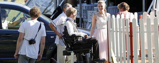 Samuel Koch und Sarah Elena Tempe bei ihrer standesamtlichen Hochzeit