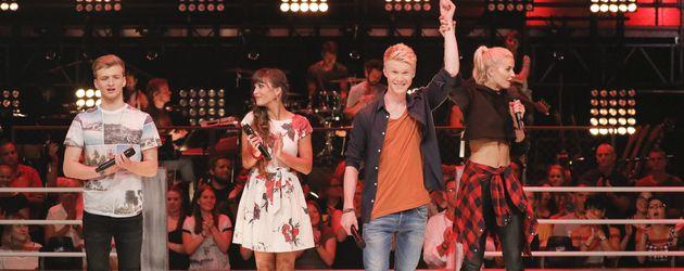"""Sarah, Leon und Adrian beim """"The Voice of Germany""""-Duell"""