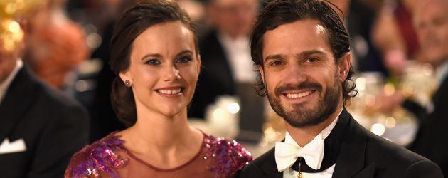 Sofia Hellqvist und Prinz Carl Philip bei der Nobelpreis-Verleihung im Dezember 2014