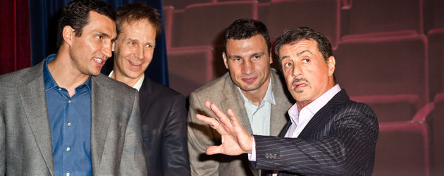Wladimir Klitschko, Sylvester Stallone und Vitali Klitschko