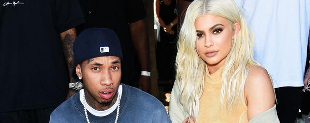 Tyga und Kylie Jenner bei einer Modenschau in New York