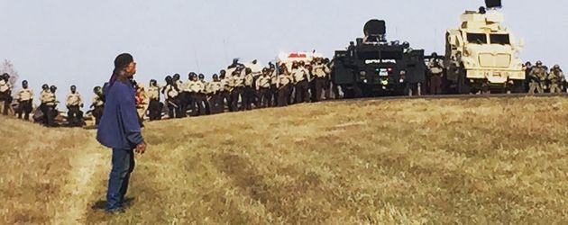 """Foto der Schauspielerin Shailene Woodley vom """"Standing Rock""""-Protest 2016"""
