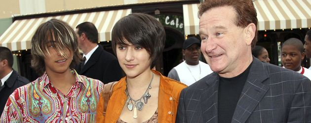 Robin Williams, Zelda Williams und Cody Williams