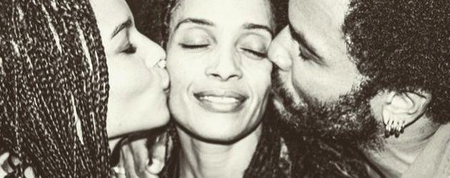 Zoe Kravitz, Lenny Kravitz und Lisa Bonet